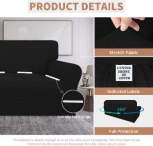 1. Easy-Going 100% Waterproof Couch Cover