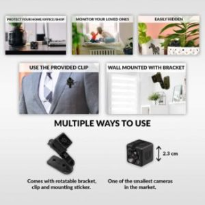 1. Small Hidden Mini Spy Camera