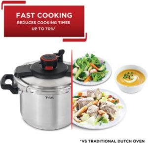 1. T-fal P45009 Clipso Stainless Steel Pressure Cooker