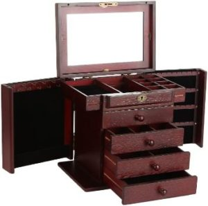 3. Rowling Extra Large Wooden Jewelry Box