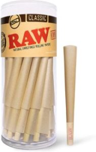 4. RAW Cones Classic King Size 50 Pack