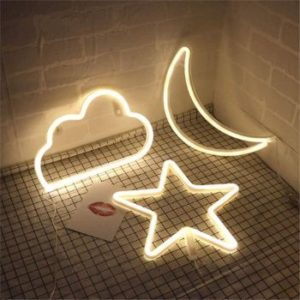 #5 Star moon and Cloud Neon Night Signs Decor