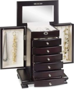 5. Best Choice Products Wooden Handcrafted Jewelry Box