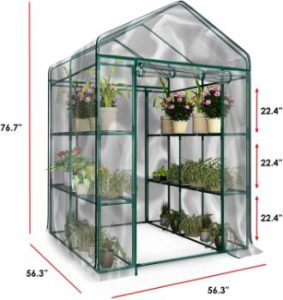 5. Home-Complete HC-4202 Walk-In Greenhouse