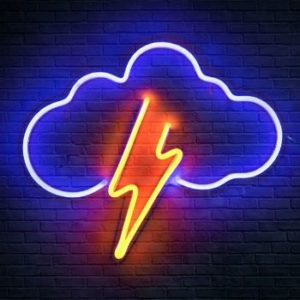 #8 Koicaxy Neon Sign, Cloud Led Neon Battery