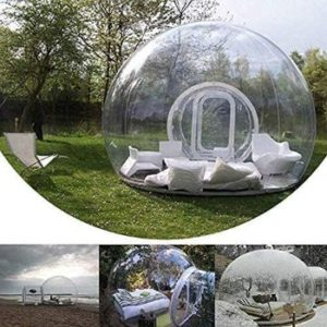 9. HUKOER Luxurious Outdoor Inflatable Bubble Tent