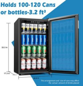 1. Euhomy Beverage Refrigerator and Cooler, 115-120 Can