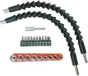 10. Flexible Screwdriver Drill Bit Extension, 22 pcs