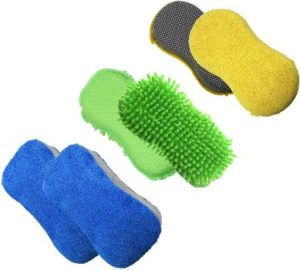 10. Polyte Microfiber Car Wash Detailing Sponge Set
