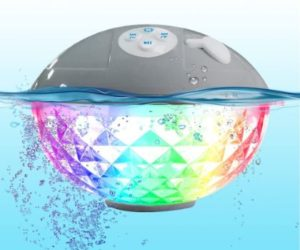10. Pool Speaker with Colorful Lights