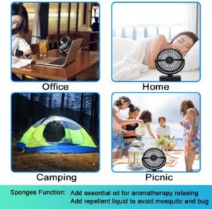 #10. Yostyle Portable Battery Camping Fan with LED Lantern