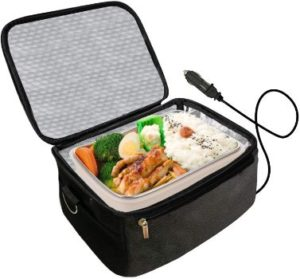 2. 12V Personal Food Warmer, Portable Oven (Black)
