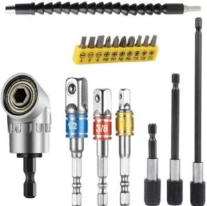 2. FOUUA Flexible Drill Bit Extension Set
