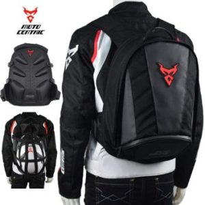 2. MotoCentric Motorcycle Leather Waterproof Backpack