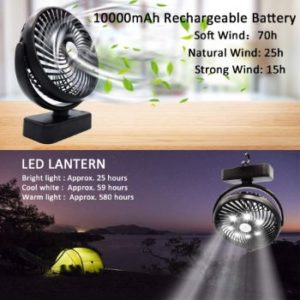#2. Yostyle 1000mAh Battery Operated Camping Fan