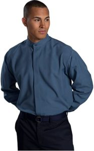 3. Ed Garment Men's Long Sleeve Banded Collar Shirt