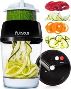 3. Fullstar 4 in 1 Vegetable Spiralizer