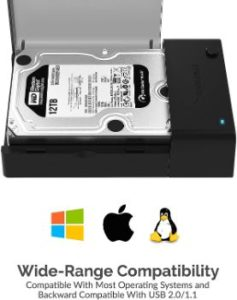 3. Sabrent USB 3.0 to SATA External Hard Drive