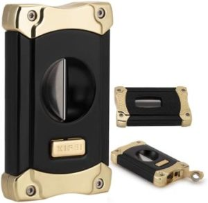 3. XIFEI Cigar Cutter (Black Gold-1)