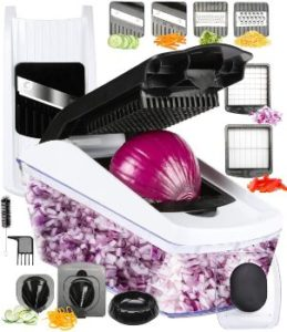 4. FAVIA Vegetable Chopper Pro Mandoline Julienne Slicer