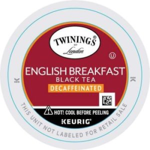 4. Twinings of London Decaffeinated English Breakfast Tea