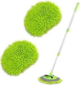5. 2 in 1 Chenille Microfiber Car Wash Brush
