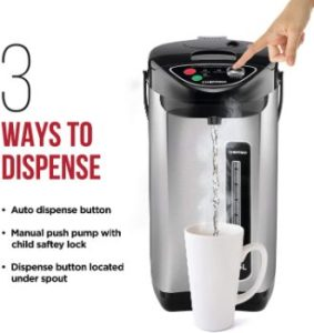 5. Chefman Electric Hot Water Pot Urn