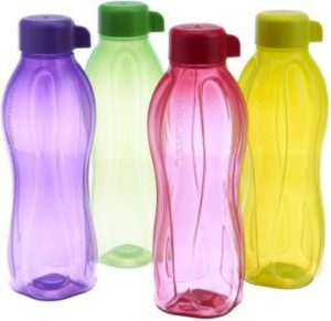 5. Tupperware Aquaslim Water Bottle, Set of 4