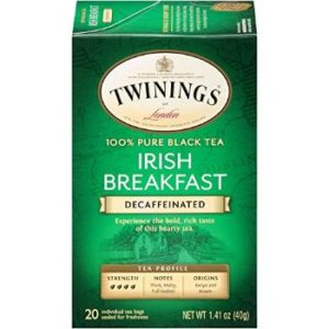 5. Twinings of London Decaffeinated Irish Breakfast Tea