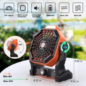 #6. Mifanstech X20 Camping Fan
