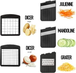 7. Fullstar Mandoline Slicer Cutter Chopper and Grater