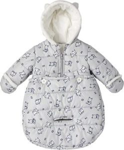7. LONDON FOG Newborn Infant Puffer Carbag