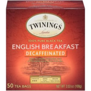 7. Twinings of London Decaffeinated Black Tea Bags