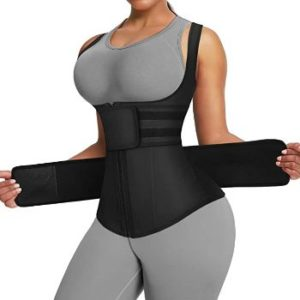 8. FeelinGirl Women's Latex Waist Trainer Corset