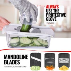 8. Fullstar Vegetable Chopper Dicer Mandoline Slicer -11 Blades
