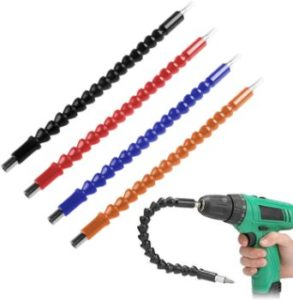 9. FineGood Flexible Drill Bit Extension, 4 pcs