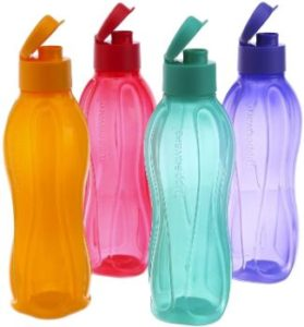 9. Tupperware 500Ml Fliptop Water Bottles, Set of 4