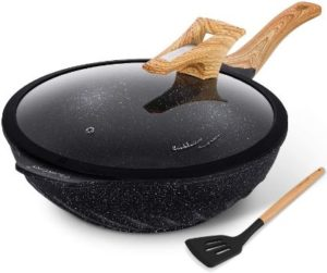 1. Chinese Wok Nonstick Scratch Resistant Induction Woks