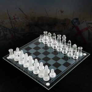 4. Upgraded Acrylic Chess Board, Glass Chess Pieces Game Chess Set