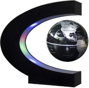 6. Trenzsary Floating Globe with LED Lights (Black)