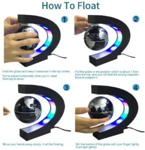 9. Estefanlo Floating Globe with LED Lights